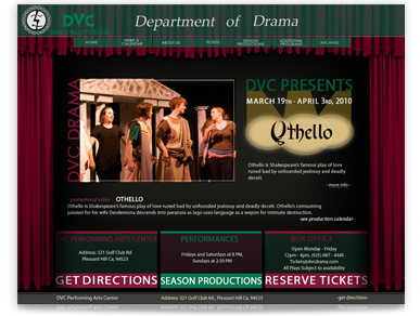 Дизайн Веб сайта для Diablo Valley College Drama Department