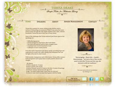 Дизайн Веб сайта для Teresa Drake