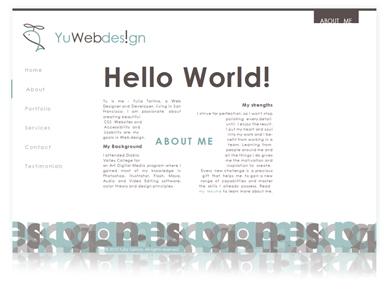 YuWebdes!gn - творческое Веб дизайн портфолио Юлии Тарима