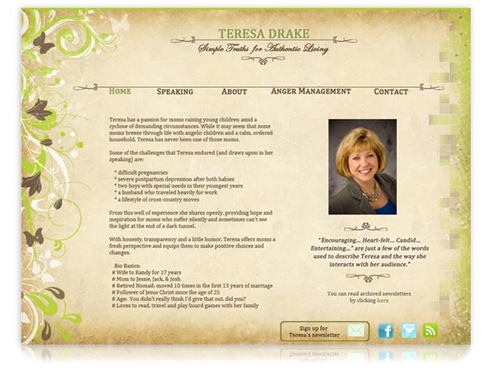 Teresa Drake Web Site Design
