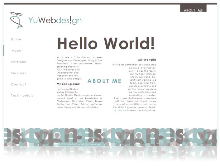 YuWebdesign Creative Web Designer Portfolio