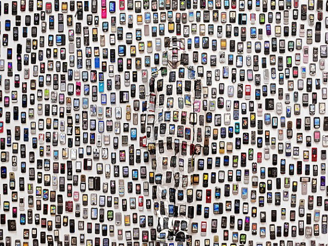 Cellphones and the Chinese chameleon and invisible man Liu Bolin City Camouflage