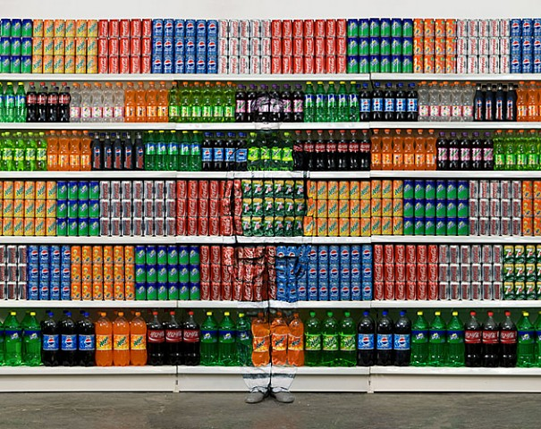 Soda and the Chinese chameleon and invisible man Liu Bolin City Camouflage