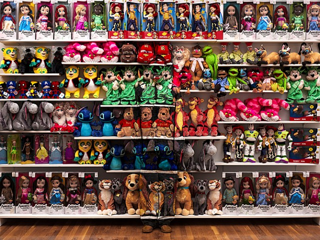 Toys and the Chinese chameleon and invisible man Liu Bolin City Camouflage